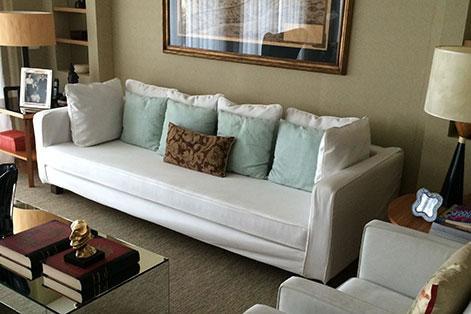 Sofá com capa
